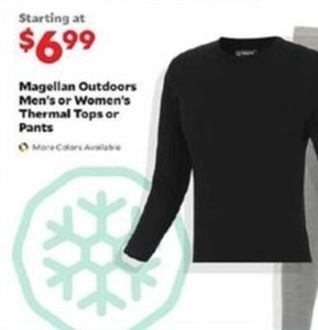 Women's  Magellan Outdoors Thermal Tops or Pants