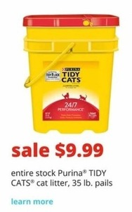 Purina Tidy Cats Cat Litter 35-Lb. Pail
