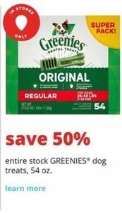 Greenies Dog Treats 54 Oz. Pack