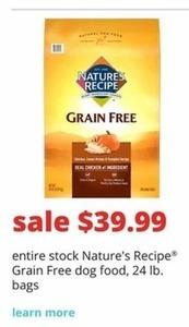 Nature's Recipe Grain Free Dog Food 24-Lb. Bags