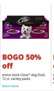 Cesar Dog Food 12 Count Variety Packs