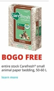 Carefresh Small Animal Paper Bedding 50-60 L