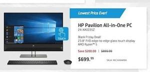 HP Pavilion All-in-One PC w/ AMD Ryzen i5 CPU