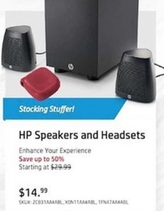 HP Speakers and Headsets
