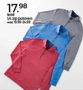 Izod 1/4 Zip Pullovers