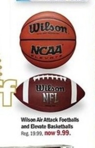 Wilson Air Attack Footballs and Elevate Basketballs
