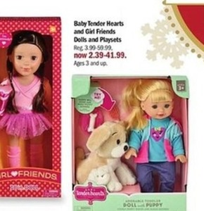 Baby Tender Hearts And Girl Friends Dolls And Playsets