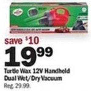 Turtle Wax 12V Handheld Dual Wet/Dry Vacuum