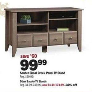 Special Shoal Creek Panel TV Stand