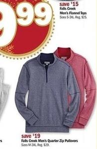 Falls Creek Men's Quarter Zip Pullovers