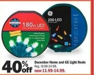 December Home and GE Light Reels