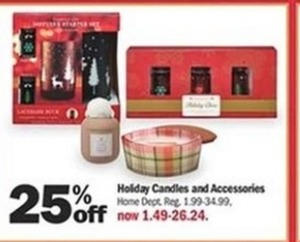 Holiday Candles And Accessories