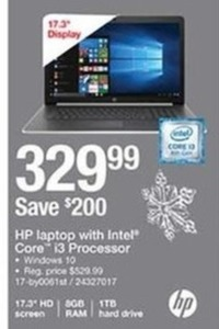 Hp Laptop With Intel Core i3 Processor