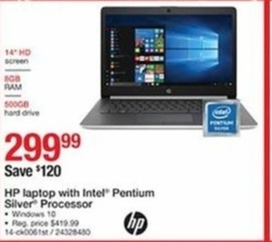HP Laptop with Intel Pentium Silver Processor