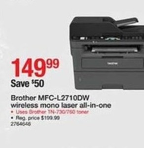 Brother MCF-L2710DW Wireless Mono Laser All-in-One