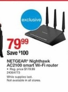 Nether Nighthawk AC2100 Smart Wi-Fi Router