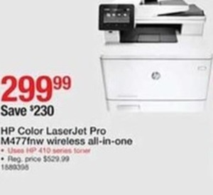 HP Color Laser Jet Pro M477fnw Wireless All-In-One
