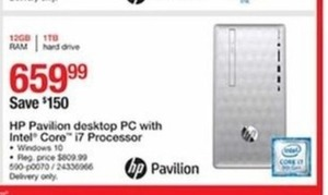 HP Pavilion Desktop PC w/Intel Core i7 Processor