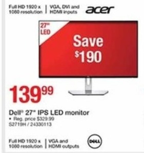 "Dell 27"" IPS LED Monitor"