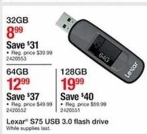 Lexar S75 USB 3.0 Flash Drive 32GB
