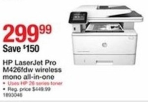 HP Laser Jet Pro M426fdw Wireless Mono All-In-One