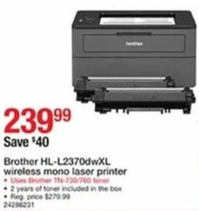 Brother HL-L2370dwXL Wireless Mono Laser Printer