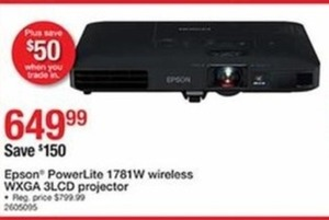 Epson PowerLite 1781W Wireless WXGA 3LCD Projector