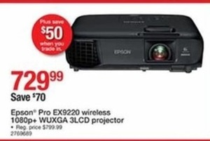 Epson Pro EX9220 Wireless 1080p+ WUXGA 3LCD Projector