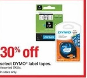 Select Dymo Label Tapes