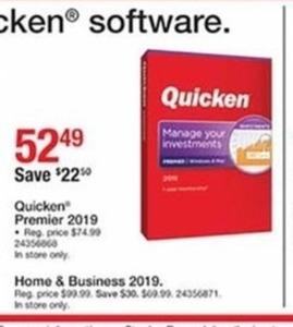 Quicken Premier 2019