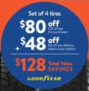 $80 Off 4 Tires + $48 Off Lifetime Balance & Rotation