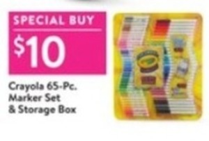 Crayola 65-Piece Marker Set & Storage Box