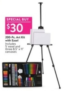 200-Piece Art Kit With Easel