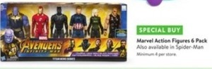 Marvel Action Figures 6 Pack