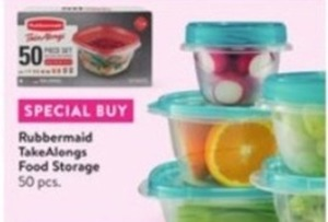 Rubbermaid TakeAlongs 50-Piece Food Storage