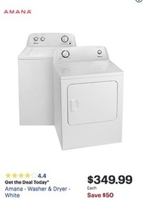 Amana - Washer White