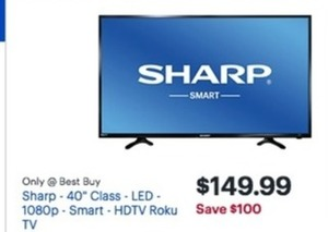 "Sharp LC-40Q3070U 40"" LED 1080p HDTV"