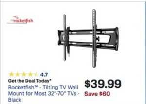 "Rocketfish TIlting 32"" - 70"" TV Wall Mount"