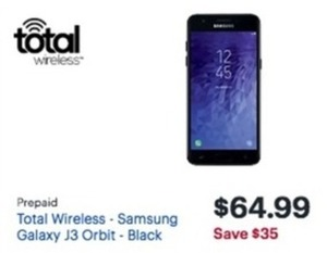 Total Wireless Samsung Glaxy J3 Orbit
