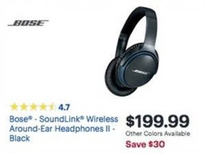 Bose SoundLink Wireless Around-Ear Headphones