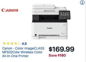 Canon Color ImageClass MF632CDW Wireless Color All-In-One Printer