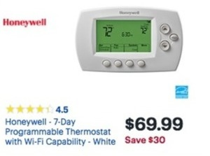 Honeywell 7-Day Programmable Thermostat w/ Wi-Fi Capability