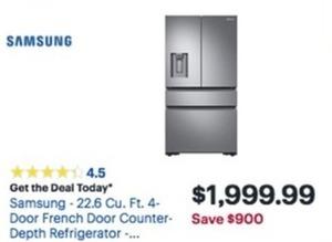 Samsung 22.6 Cu. Ft. 4 Door French Door Counter Depth Refrigerator