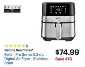 Bella Pro Series 5.3qt. Digital Air Fryer