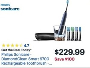 Philips Sonicare DiamondClean Smart 9700 Rechargeable Toothbrush