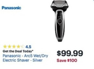Panasonic Arc5 Wet/Dry Electric Shaver