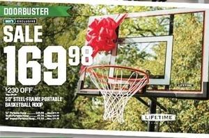 "50"" Steel-Frame Portable Basketball Hoop"