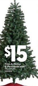 Trim A Home 6' Peninsula Pine Christmas Tree
