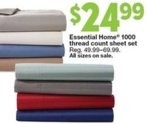 Essential Home 1000 Thread Count Sheet Set