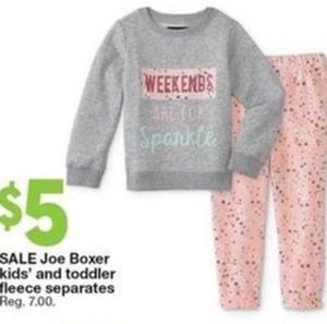 Joe Boxer Kids' and Toddler Fleece Separates
